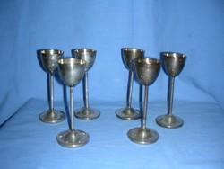 6 darab alpakka likőrös pohár