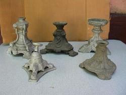 5 darab spiáter lámpa alsó rész
