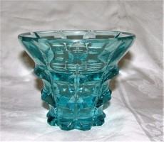 Art Deco Moser Karlsbad üveg váza jelzett