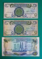 IRAK – 3 db-os Bankjegy lot –1 Iraki dinár - 1978- 79 - 1980-as kiadás
