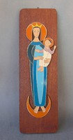 Zománc festett fa táblás fali ikon