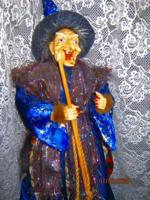 60 cm Retro boszorkány seprővel