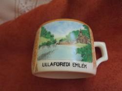 Zsolnay pajzspecsétes porcelán lillafüredi emlék csésze