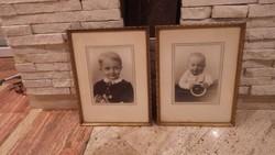 Képkeret pár fotókkal falc 40x30 cm