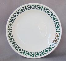 Régi gránit kézzel festett fajansz kínáló vagy tányér