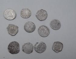 Középkori ezüst pénzek 11 db egyben eladó