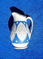 19. századi ón fedeles jelzett cserép kancsó
