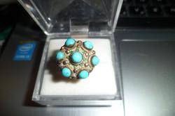 Régi ezüst gyűrű / türkiz
