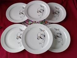 205/1 6 db régi Ilmenau Henneberg süteményes desszertes tányér