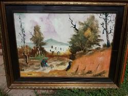 Id. Imre István : Santoro ( olaj , vászon , 45x65 cm )