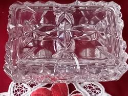 207/1 Üveg bonbonier ékszertartó 10x8x4 cm