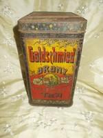 Antik goldschmied arany tea fémdoboz teadoboz