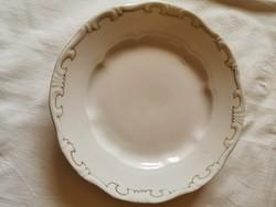 Zsolnay tollazott porcelán süteményes tányér