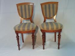 Antik  2 db diófa szék