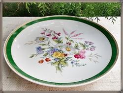 AK Kaiser, minőségi német virágcsokor mintás porcelán fali tál