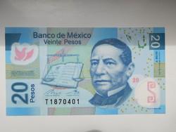 Mexikó 20 pesos 2016 UNC