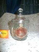 Üveg bonbonier, cukortartó