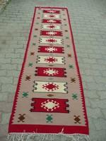 Antik, kilim szőnyeg  szép állapotban 320*83 cm méretben kb.1930-40 környéke