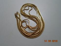 3 soros aranyozott hosszú nyaklánc 80 cm