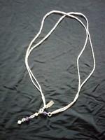 Ametiszt köves ezüst nyaklánc 8,7 gtramm