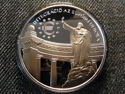 E.C.U. - Integráció az Európai Unióba Szent Gellért ezüst 3000 Forint 1999 BP PP (id25526)