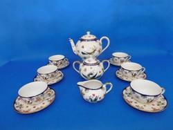 Zsolnay Főnixes  6sz teás garnitúra