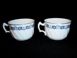 2 db Zsolnay porcelán különleges virágos bögre, csésze