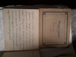 2db régi írófüzet