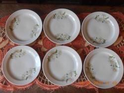 Zsolnay margaréta mintás süteményes tányérok 6 db