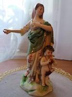 Mária szobor angyallal