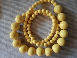 Retro citrom sárga nyaklánc 170 g, 104 cm