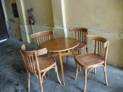 4db.thonet szék retró asztallal