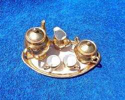 Régi aranyozott porcelán gyermek játék készlet