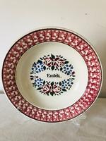 Emlék feliratú tányér