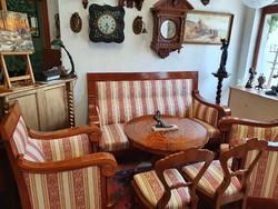 6 részes gyönyörűséges antik Biedermeier ülőgarnitúra ritkaság
