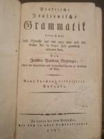 RITKASÁG! KURIÓZUM! Német-olasz nyelvkönyv 1797-ből.