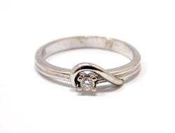 Köves fehér arany gyűrű (ZAL-Au64290)