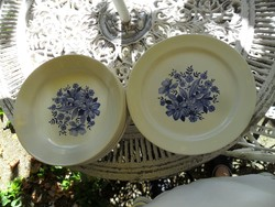 Retro kék virágos GRÁNIT tányér  készlet 6+6