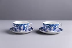 Kínai csésze, tányérral, 2 darab, jelzett.