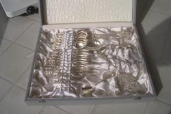 Antik Ritka!Masszív ezüst 800-as mester jelzett Hildesheimer rose 6 szem. teás/kávé