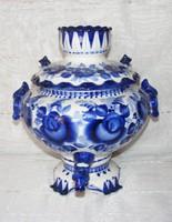 Nagyméretű porcelán szamovár
