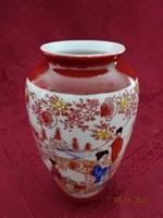 Japán porcelán váza, magassága 12,5 cm.