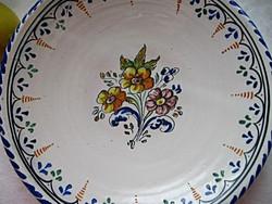 Antik nagy habán fali tányér
