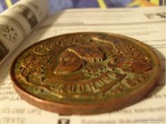 1896 világkiállítás vadászkutya érme az igazi pedigré 59-Gr- 55,5- mm er átmérő
