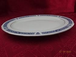 KANEHAN  japán porcelán ovális  húsos tál, ezüst szegéllyel.