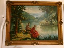 Gyönyörű festmény Kerényi szignóval, blondel keretben