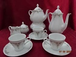 SCHERZER Bavaria német porcelán három személyes kávéskészlet.