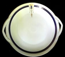 Art Deco süteményestálak Kaestner Saxonia német porcelán