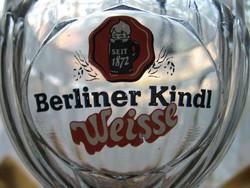 Gyűjtői retro kehely Berliner Kindl Weisse Rastal Pokal