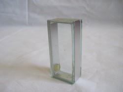 Régi art deco jellegű üveg sószóró fém betéttel